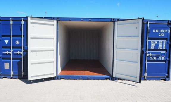 beacon storage stafford 20ft shipping container open