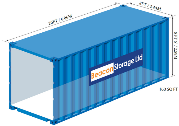 beacon storage stafford 20ft container with dimensions