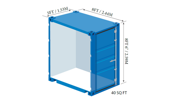 beacon storage stafford 5ft container with dimensions